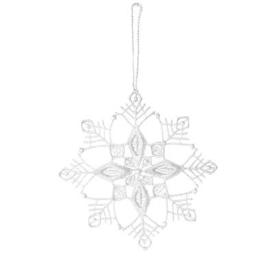 Juna White Lace Snowflake Hanging Decoration