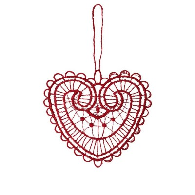 Juna Red Lace Heart Decoration