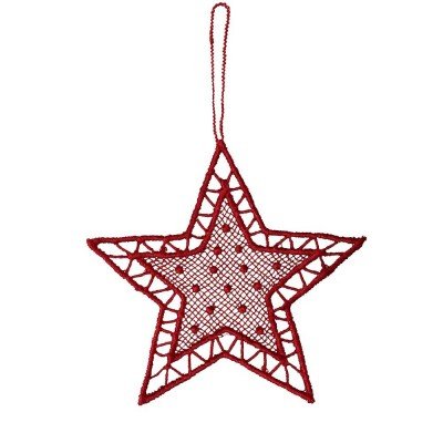 Juna Red Lace Star Decoration