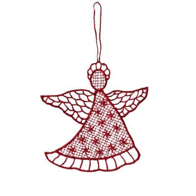 Juna Red Lace Angel Decoration