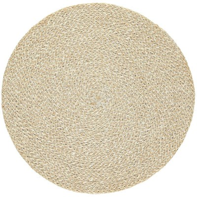 British Colour Standard Large Jute Table Mat - Pearl White