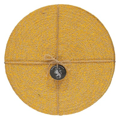 Jute Placemats Set Of Four - Indian Yellow