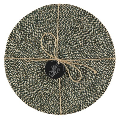 Jute Placemats Set Of Four - Olive Green