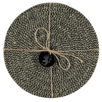 Jute Placemats Set Of Four - Black