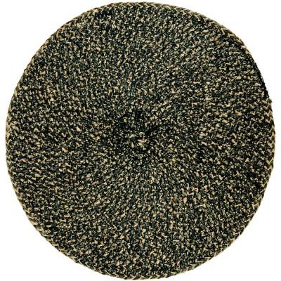 British Colour Standard Jute Large Table Mat - Black