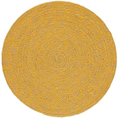 British Colour Standard Jute Large Table Mat - Indian Yellow