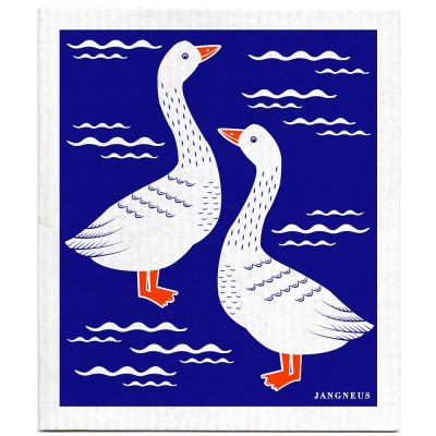 Jangneus Cellulose Dishcloth - Blue Geese