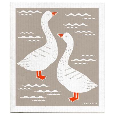 Jangneus Cellulose Dishcloth - Grey Geese