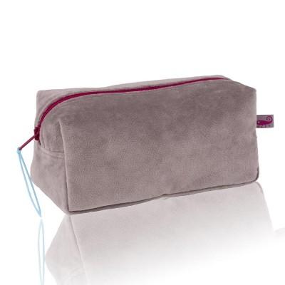 Farbenfreunde Platinum Grey Velvet Cosmetic Bag