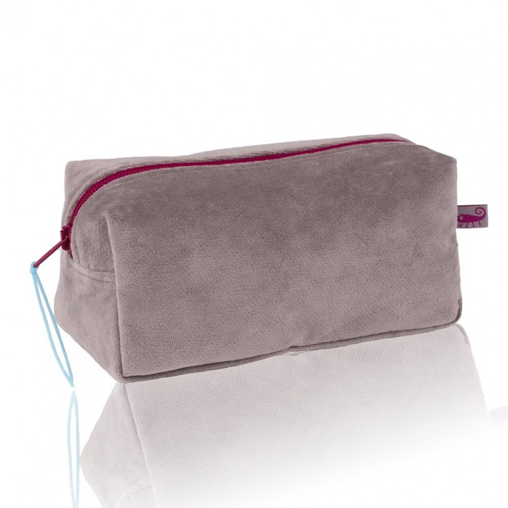 Farbenfreunde Platinum Grey Velvet Cosmetic Bag