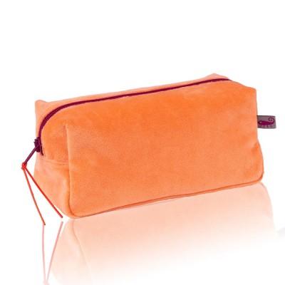 Farbenfreunde Soft Orange Velvet Cosmetic Bag