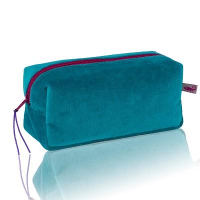 Farbenfreunde Petrol Velvet Cosmetic Bag
