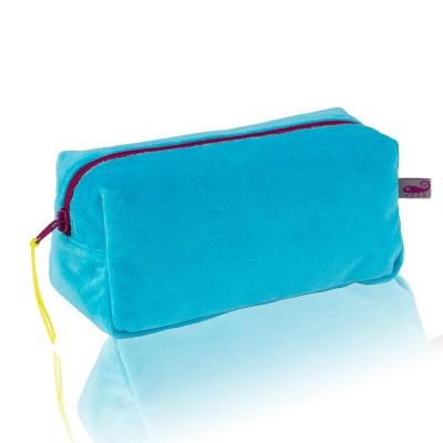 Farbenfreunde Turquoise Velvet Cosmetic Bag