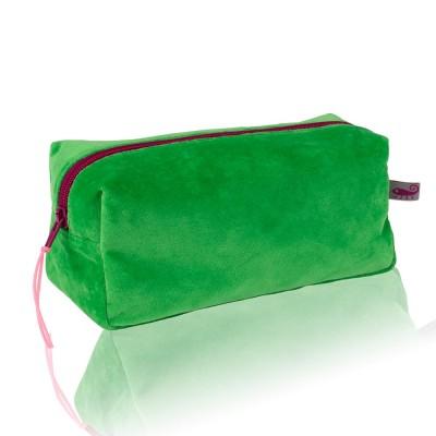 Farbenfreunde Emerald Velvet Cosmetic Bag