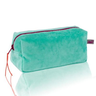 Farbenfreunde Jade Velvet Cosmetic Bag