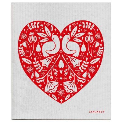 Jangneus Dishcloth - Red & Grey Partridge