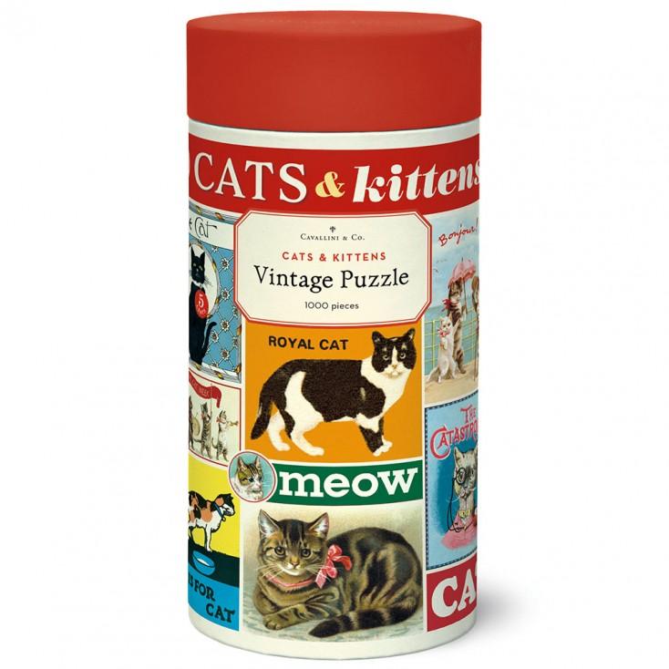Cavallini & Co National Cats & Kittens 1000 Piece Jigsaw