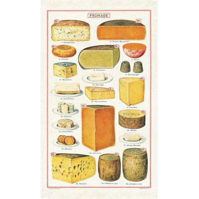Cavallini & Co Tea Towel - Cheese