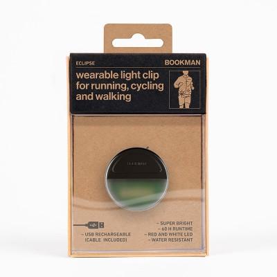 Bookman Eclipse Wearable Light Clip - Black