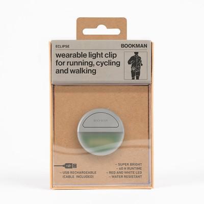Bookman Eclipse Wearable Light Clip - Grey