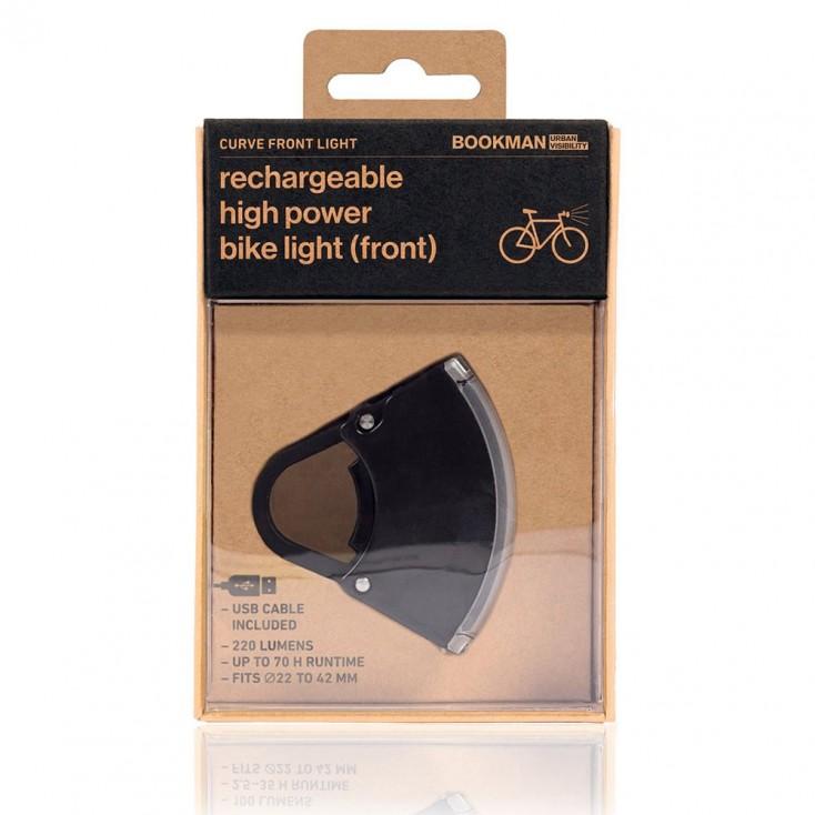Bookman Curve Front Bike Light 3.0 - Black