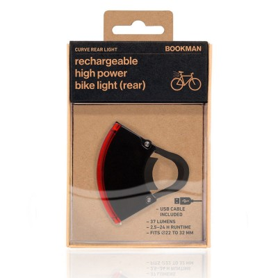 Bookman Curve Rear Bike Light 2.0 - Black
