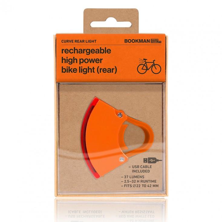 Bookman Curve Front Bike Light 2.0 - Orange