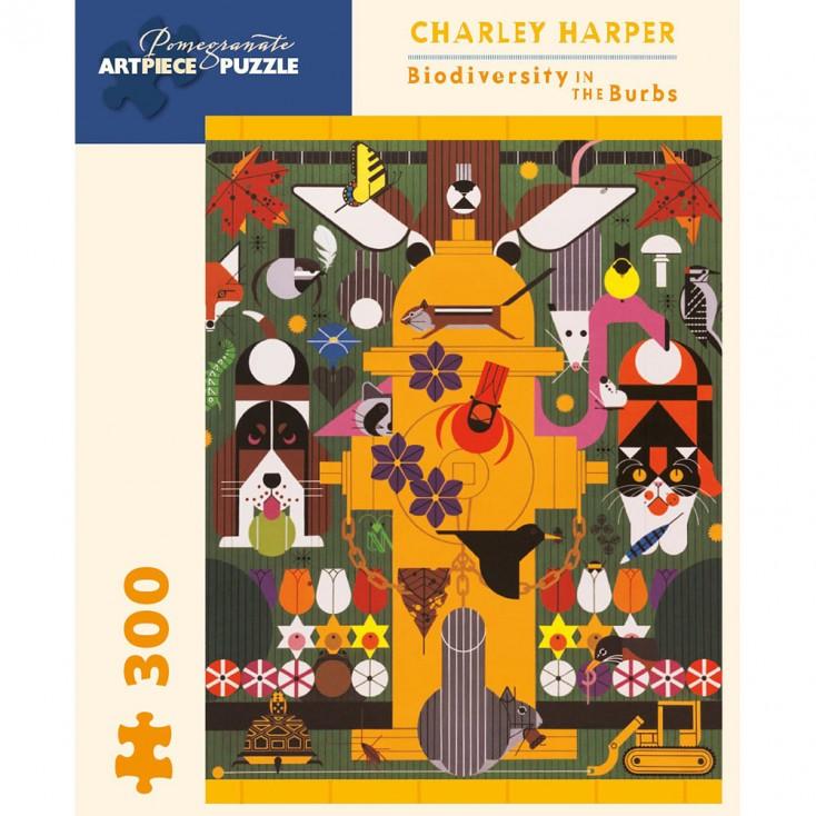 Pomegranate Charley Harper Biodiversity 300 Piece Jigsaw Puzzle