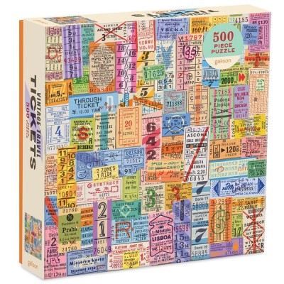 Galison Vintage Travel Tickets 500 Piece Jigsaw Puzzle