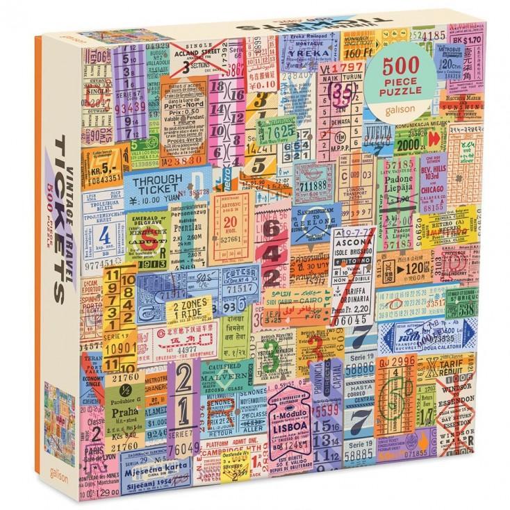 Galison Vintage Travel Tickets 500 Piece Jigsaw Puzzle