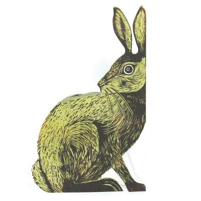 Judy Lumley Earthen Hare 3D Card