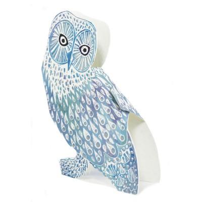 Judy Lumley Snowy Owl Foiled 3D Card