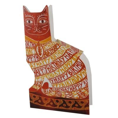 Judy Lumley Happy Birthday Cat 3D Card