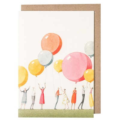 Laura Stoddart Balloon Party Greeting Card