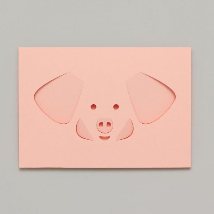 Dotsy Pig Greeting Card