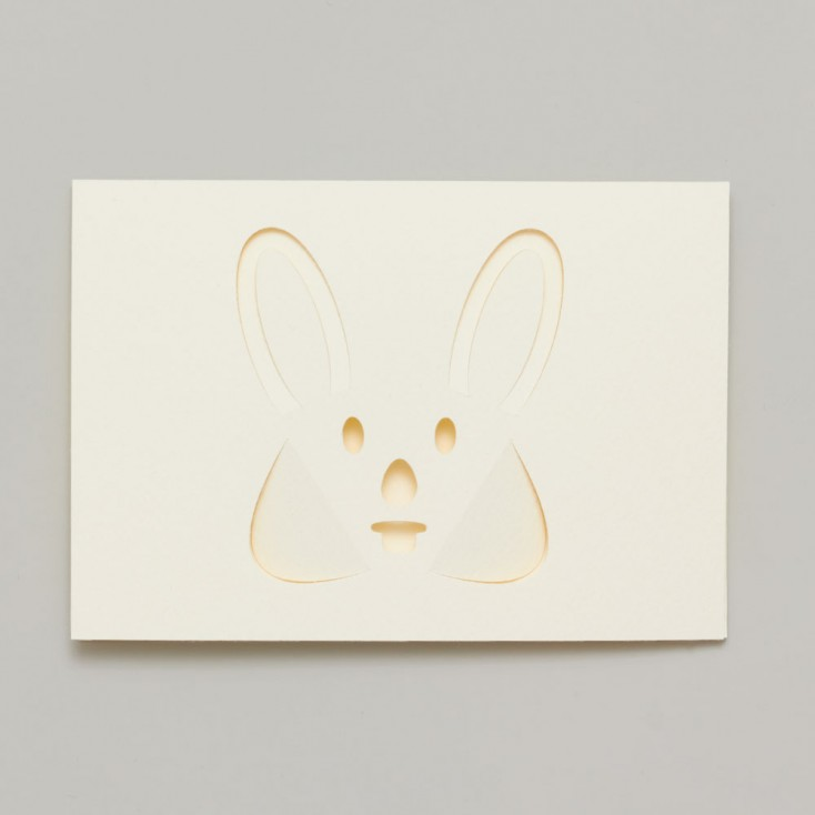 Dotsy Rabbit Greeting Card