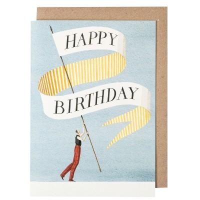 Laura Stoddart Happy Birthday Gentleman Greeting Card