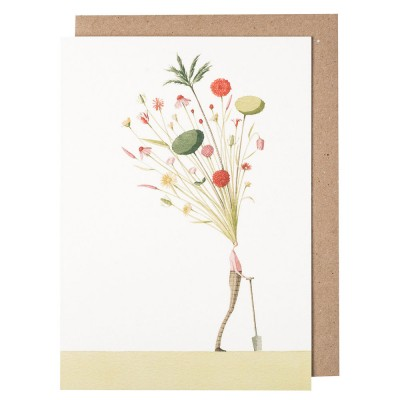 Laura Stoddart Seed Head Greeting Card