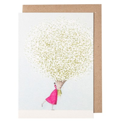 Laura Stoddart Baby's Breath Greeting Card