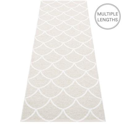 Pappelina Fossil Grey : White Kotte Runner - 70 x 225 cm