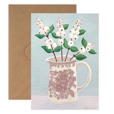 Susie Hamilton Snowberries Greeting Card