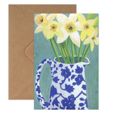 Susie Hamilton Daffodils Greeting Card