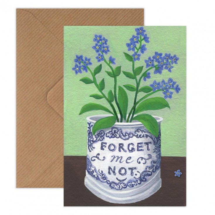 Susie Hamilton Forget-Me-Nots Greeting Card
