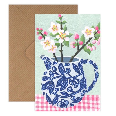 Susie Hamilton Apple Blossom Greeting Card