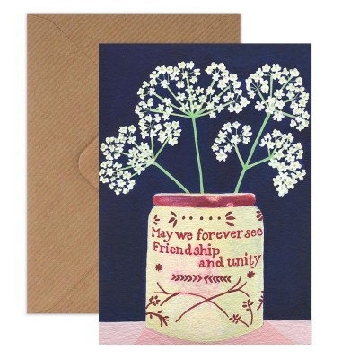 Susie Hamilton Cow Parsley Greeting Card