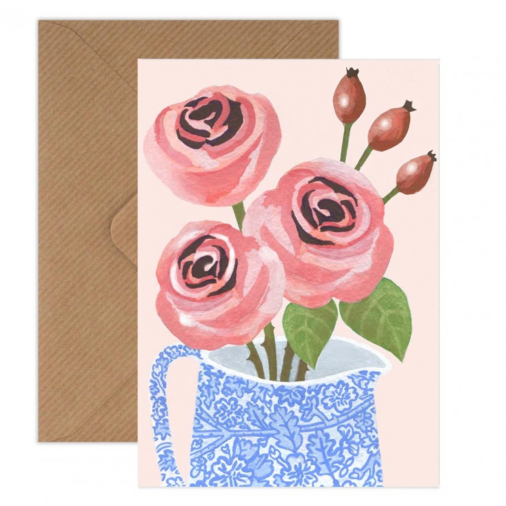 Susie Hamilton Roses Greeting Card
