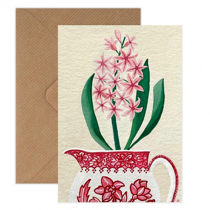 Susie Hamilton Hyacinth Greeting Card