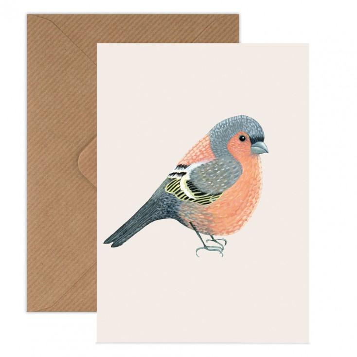 Susie Hamilton Chaffinch Greeting Card