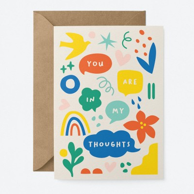 Graphic Factory You Are In My Thoughts Greeting Card