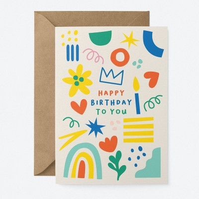Graphic Factory Happy Birthday To You Greeting Card